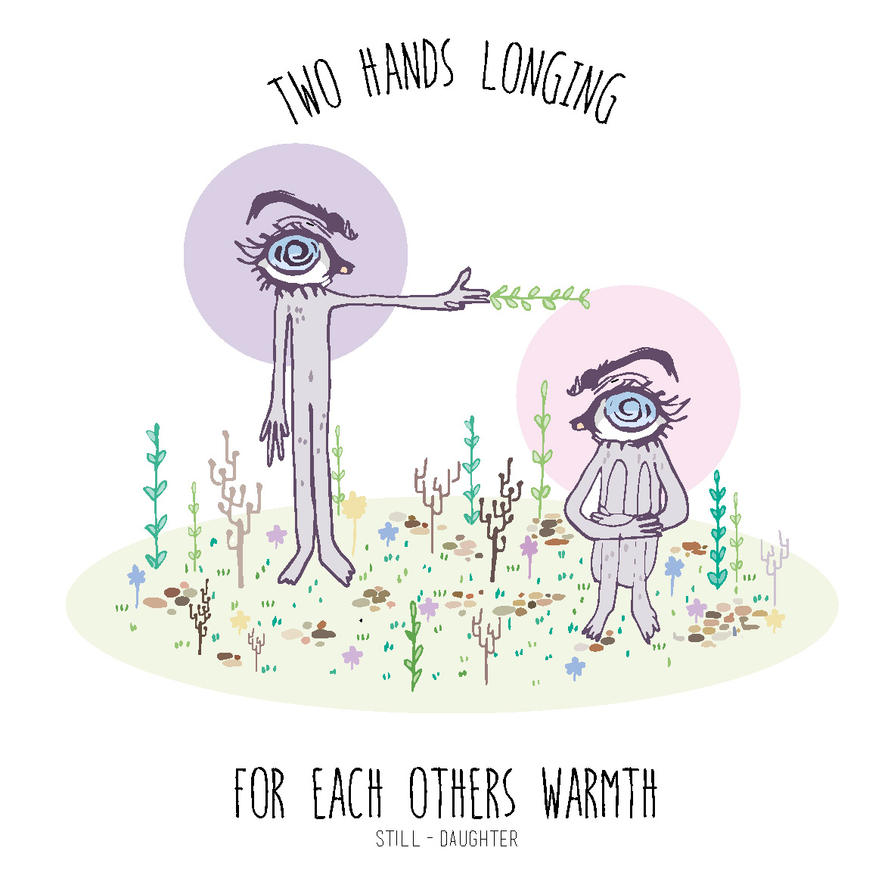 Two hands longing Behance by Rowie-Ann