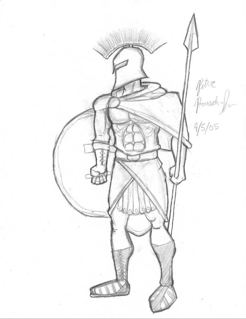 how to draw greek gods easy