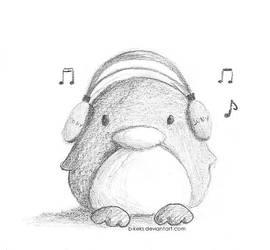 Music Penguin by B-Keks
