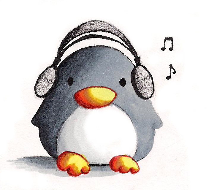 Music Penguin - coloured by B-Keks