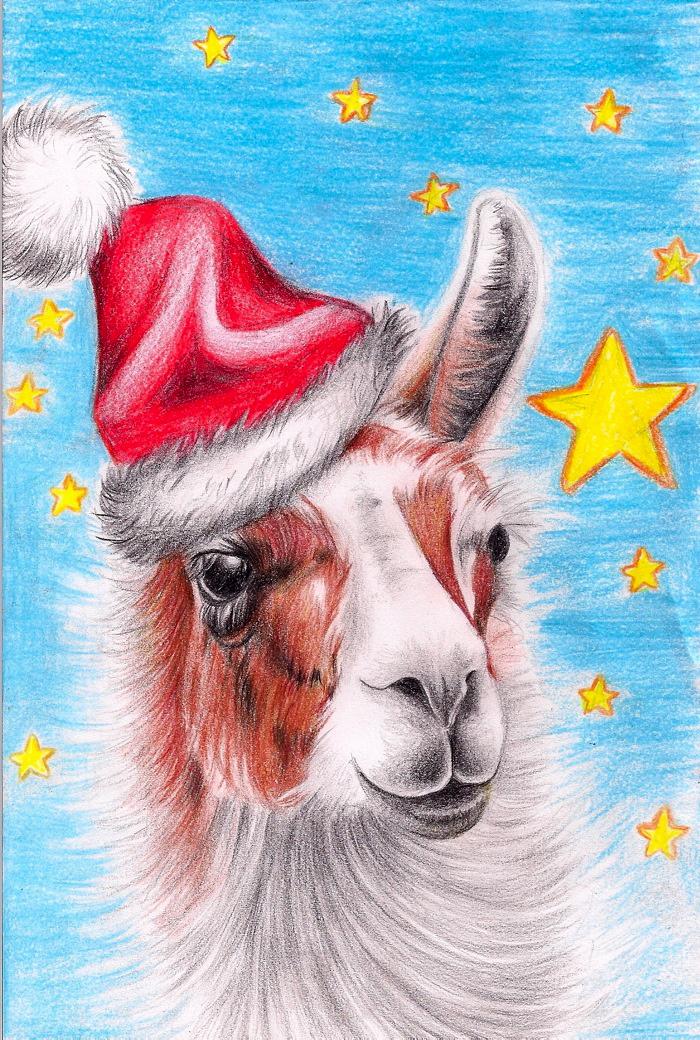 Christmas Llama by B-Keks on DeviantArt