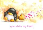 Valentine's Penguin 2014 by B-Keks