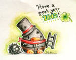 New Year's Penguin 2015