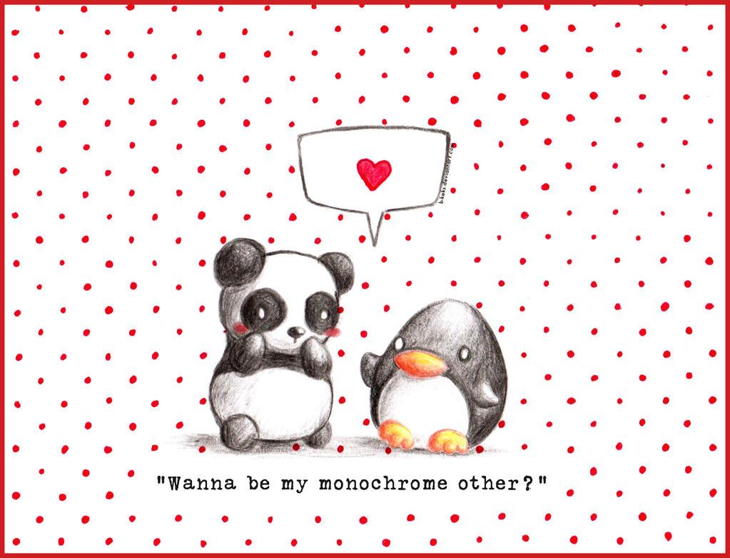 Valentine's Penguin 2017 by B-Keks