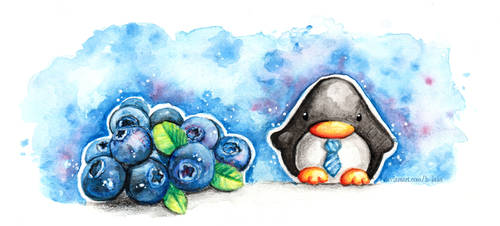 Fruit Penguins: Blueberry Business