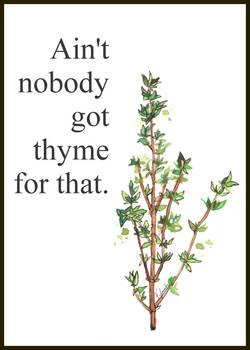 No Thyme