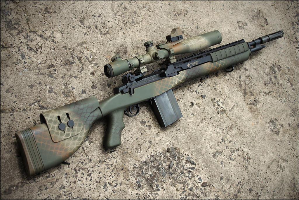 M14 Wallpaper M14 dmr custom by drake-uk M14 Ebr Sniper Rifle