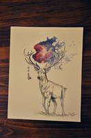 Galaxy Deer by enfanir