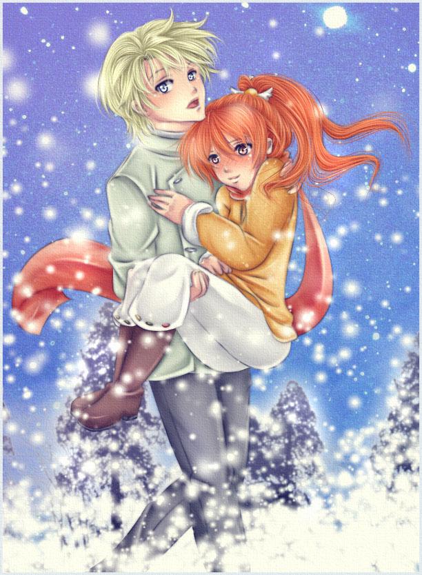 ScorLily: Winter Walk by Iwonn