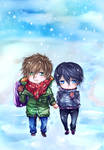MakoHaru: Winter walk by Iwonn