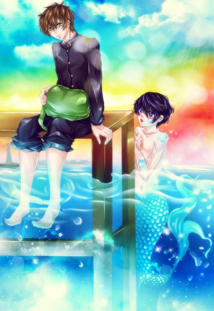 MakoHaru: First Love by Iwonn