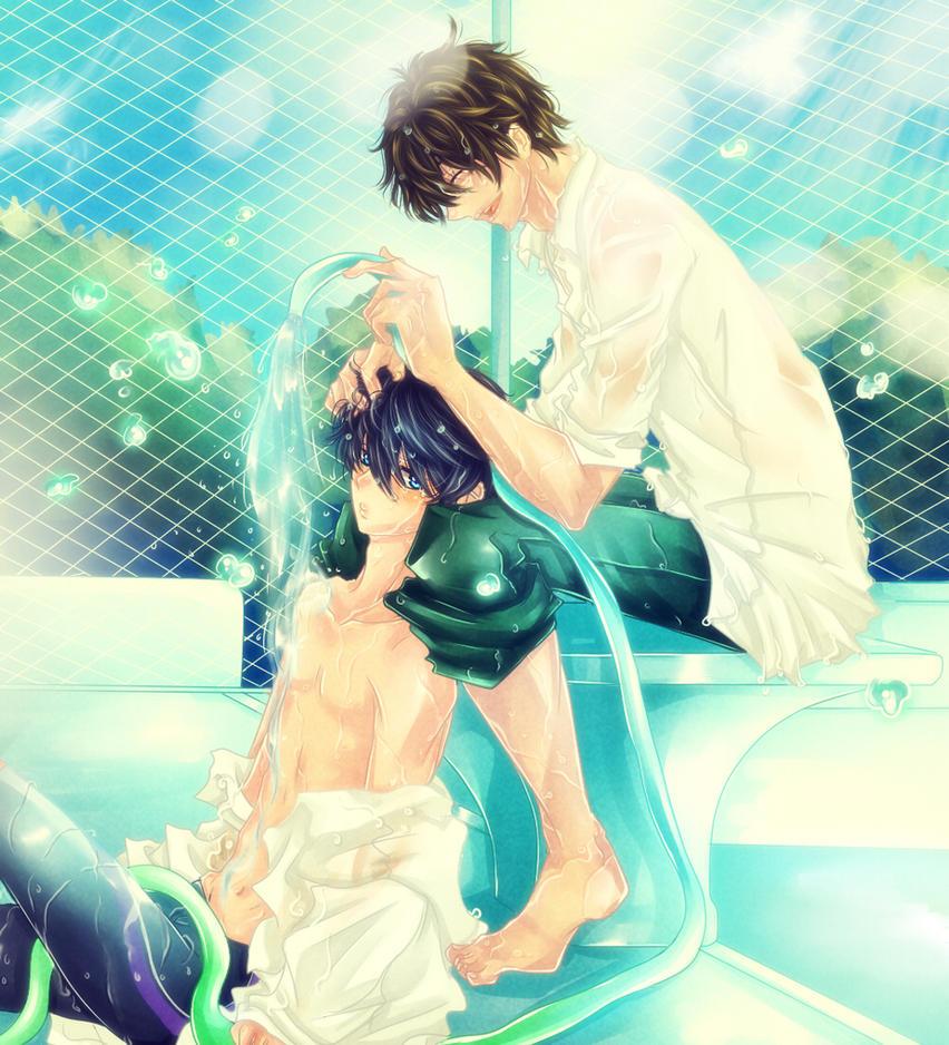 MakoHaru: You are my Sunshine by Iwonn