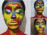 Thermal (face painting) by AnoushayKhan