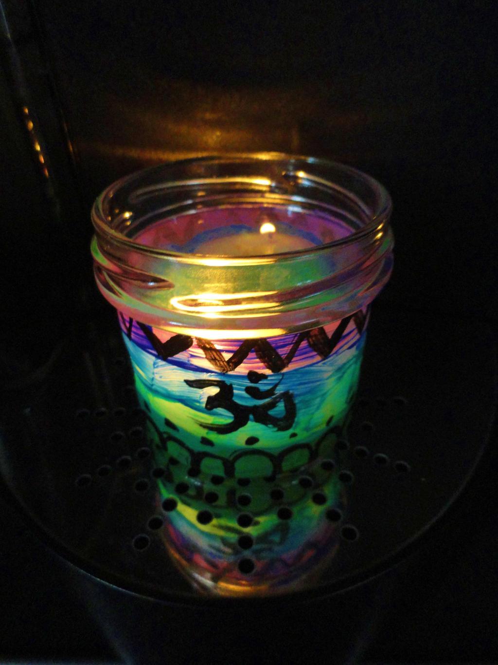 Om Candle Light Jar