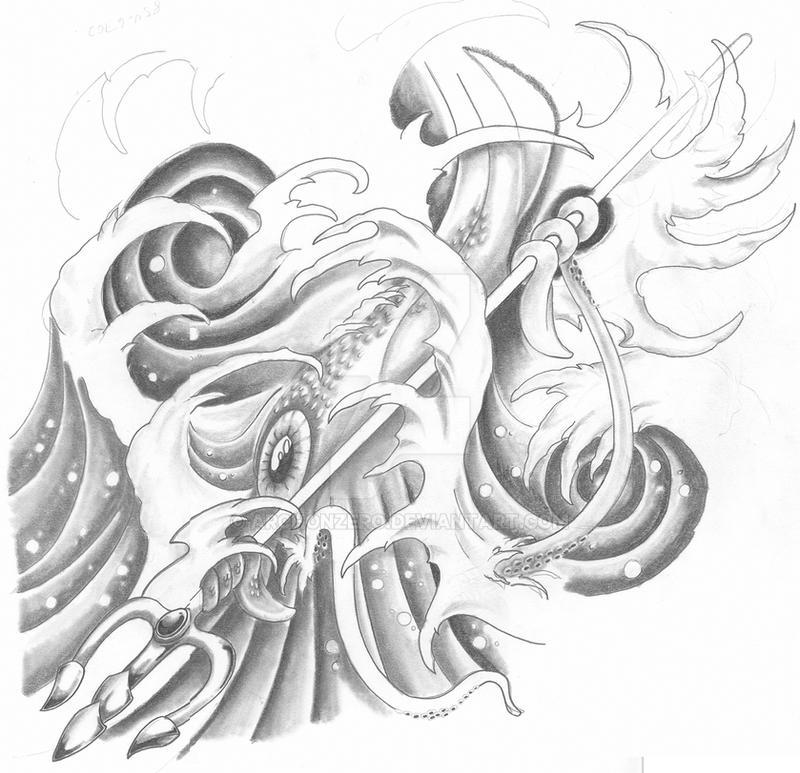 Poseidon's Kraken by Archonzero on DeviantArt