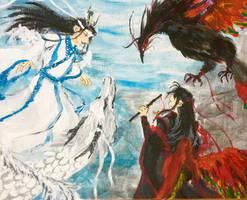 MDZS dragon phoenix AU