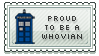Proud To Be A Whovian Stamp by mirmirs