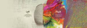 Left Brain-Right Brain Dual monitor by Dericwadleigh