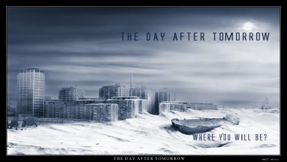 the day after tomorrow essay The greenhouse warming hype of the movie the day the movie the day after tomorrow describes the effects of global warming.