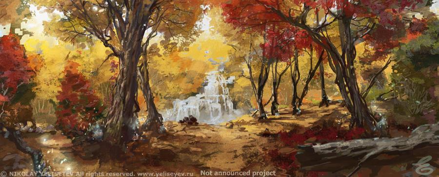 golden forest by NikYeliseyev