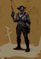Godmode-cowboy by NikYeliseyev