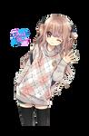 Anime manga girl cute render