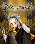 Header of Welcome Bienvenue witch Bowtruckle by Follolam