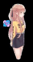 Anime girl render 1 by Follolam