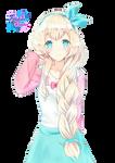 Kawaii cute pastel render