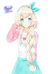 Kawaii cute pastel render by Follolam