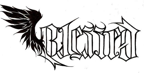 Blessed ambigram variation by Nehemya