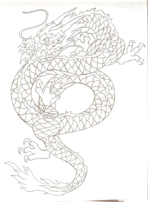 asian dragon tattoo design by nehemya on deviantart. Black Bedroom Furniture Sets. Home Design Ideas