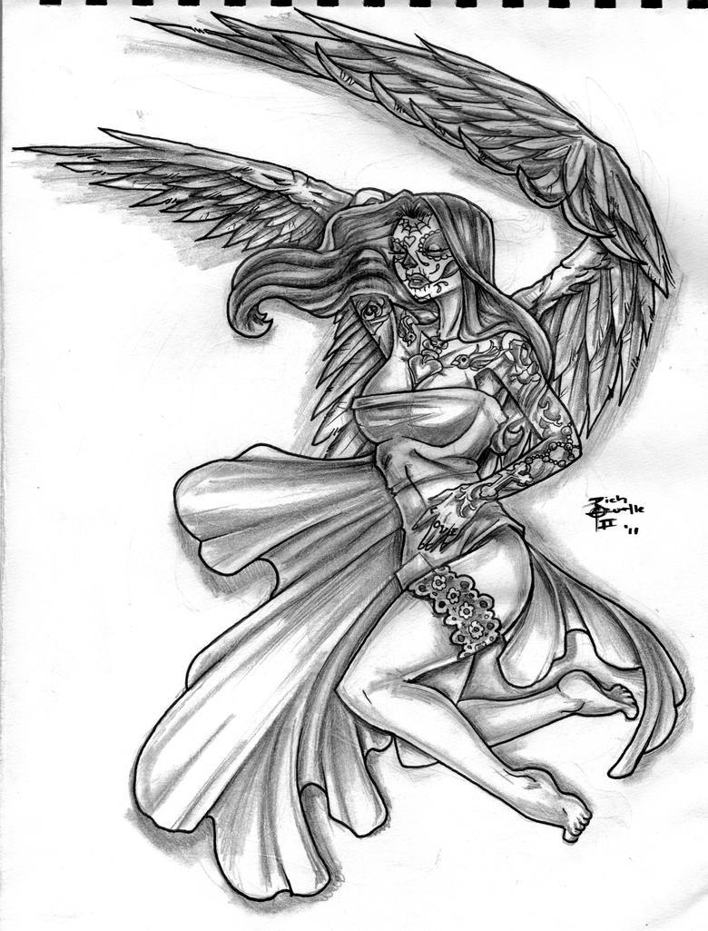 day of the dead fallen angel by nehemya on deviantart