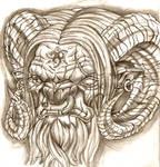 demon goat head