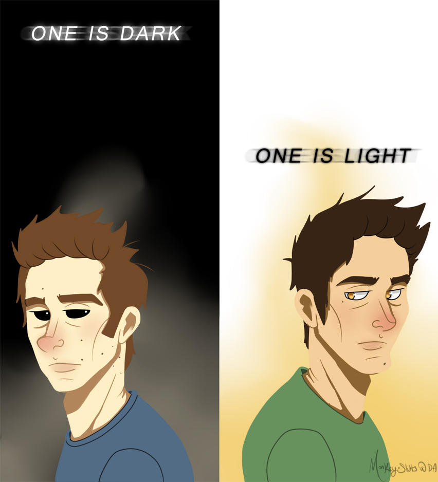 One Is Dark, One Is Light by monkey-sluts
