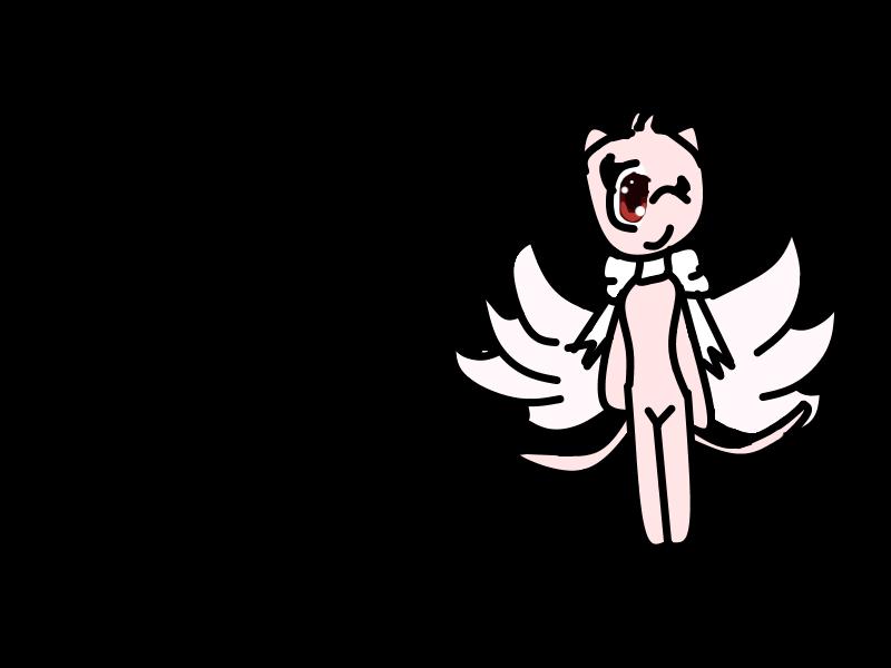 my nekomata Angel Form by teampikachu9945