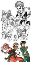 Naruto sketchdump 1
