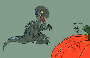 Raptor October: Carving Pumpkins by kosmonauttihai