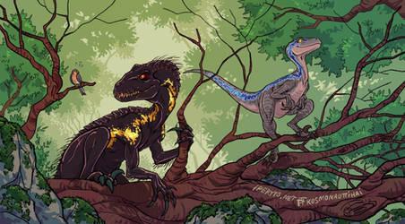 Raptor Encounter by kosmonauttihai