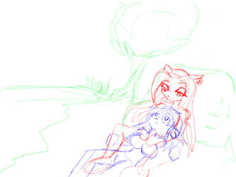 Rough sketch for art trade by dementedpixie