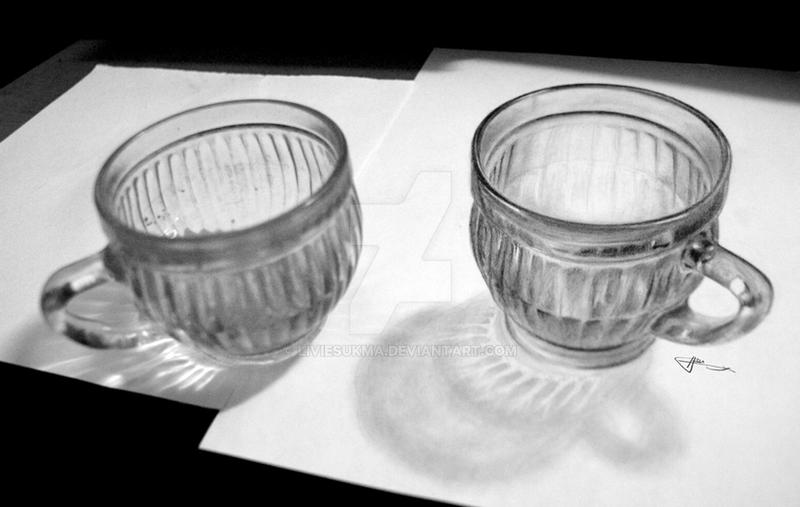 3d drawing cup 1 by liviesukma on deviantart