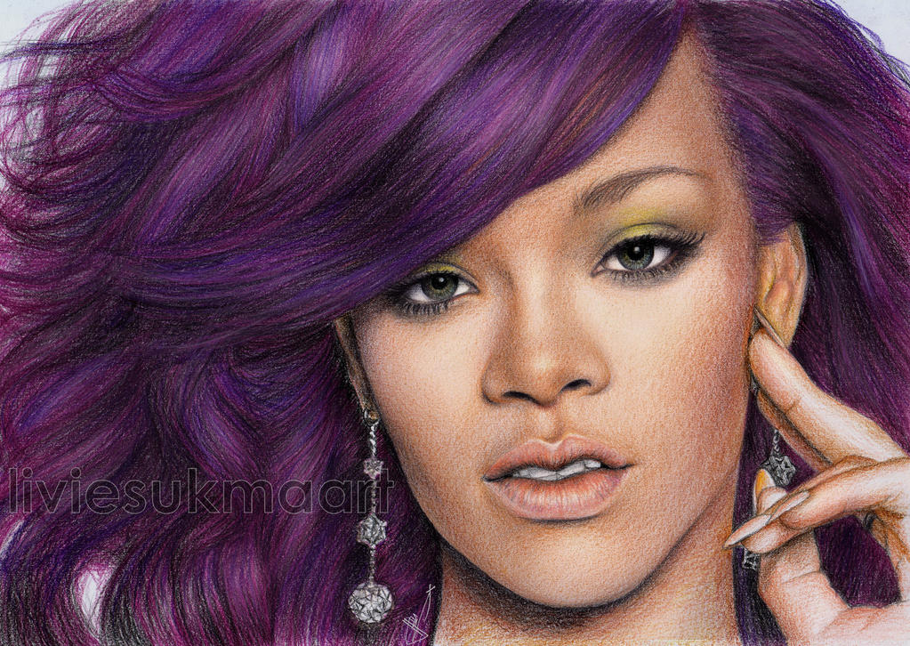 Rihanna purple by LivieSukma