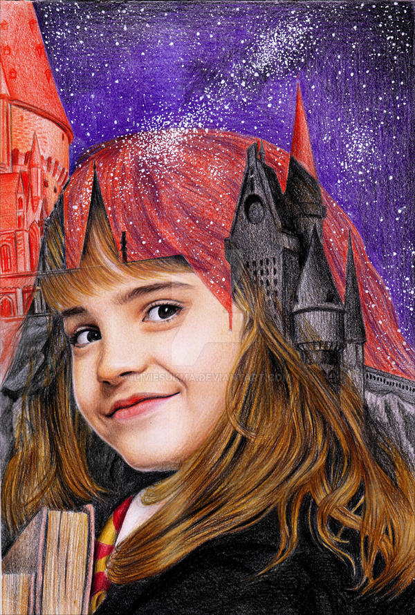 Multiple exposure Hermione Granger 1st year by LivieSukma
