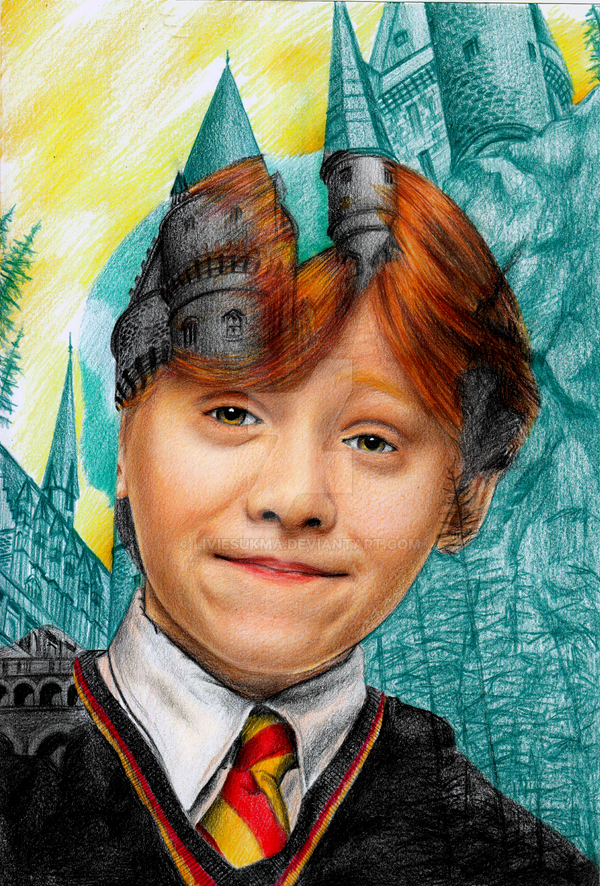 Multiple exposure Ron Weasley 1st year by LivieSukma