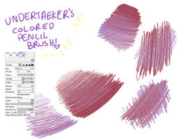 Colored Pencil Brush [paint tool sai] by ielleja