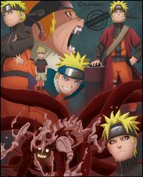 Naruto through the years by DemonFoxKira