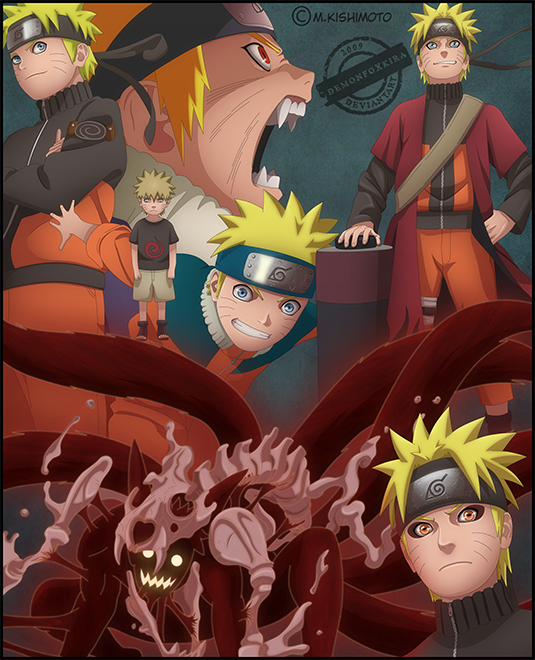 Naruto through the years by DemonFoxKira