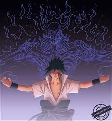 Evil Sasuke with Susanoo by DemonFoxKira