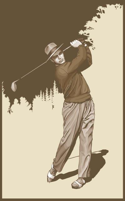Vintage Golfer by mftalon