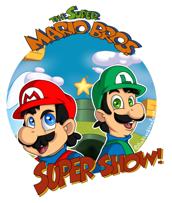 super mario bros super show logo